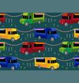 food trucks seamless pattern people queue vector image
