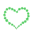 Fresh Green Vine Leaves in A Heart Shape vector image vector image