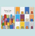 funny cats design calendar 2019 vector image vector image