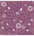 Gentle violet seamless pattern vector image