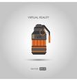 Grenade Gun for virtual reality system vector image vector image