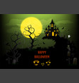 halloween background with pumpkin and full moon vector image vector image