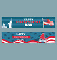 happy independence day 4th july patriotic posters vector image vector image