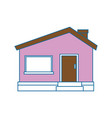 House architecture building vector image