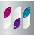 infographics three rectangles vector image