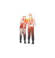 lgbt male gay couple child concept vector image