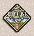 logo for deer hunt vector image