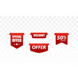 offer tag set discount stickers vector image
