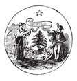 official seal us state maine in vector image vector image