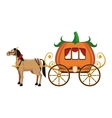 old carriage icon vector image