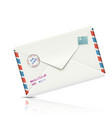 Old-fashioned Airmail Realistic Paper Envelope vector image vector image