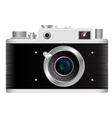 Old rangefinder film camera on a white background vector image vector image