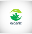 organic ecology logo vector image vector image