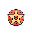 pentacle satanic project star flat color icon vector image vector image