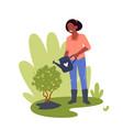 people work in garden gardener worker woman vector image vector image