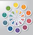 pie chart or area chart diagram infographics ten vector image vector image