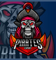 pirates mascot gaming logo design vector image