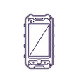 protected mobile phone device with blank screen vector image vector image