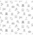 real estate black and white icon seamless pattern vector image