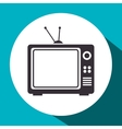retro tv isolated icon vector image