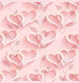 seamless heart pattern soft background regular vector image vector image
