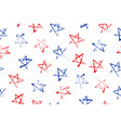 seamless pattern with blue red stars vector image