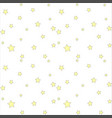seamless pattern with simple stars vector image vector image