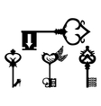 set black key silhouettes vector image