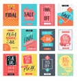 set modern sale banners template design vector image