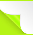 shape bent angle is free for filling green vector image