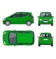 small compact electric vehicle or hybrid car eco vector image vector image