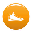 sneakers icon orange vector image