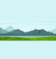 summer landscape with lake and mountains vector image vector image