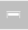 table computer symbol vector image