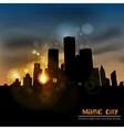 The city at sunset vector image vector image