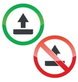 Upload permission signs set vector image vector image