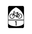 usa traffic road signs interstate bicycle route vector image vector image