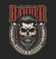 vintage barbershop colorful print vector image