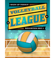 Volleyball League Flyer vector image vector image