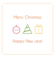 modern simple design of christmas card with vector image