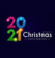 2021 happy new year banner with shining sequins vector image vector image