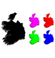 3d map of ireland vector image vector image