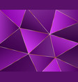 abstract geometric background from triangles vector image vector image