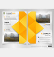 abstract of modern yellow polygon business vector image vector image