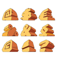 Alphabet made of stone symbols vector image