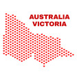australian victoria map - mosaic of lovely hearts vector image vector image