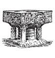 baptismal font at winchester cathedral vintage