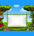 beautiful nature frame with the tree and flower vector image vector image