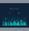 belfast skyline northern ireland line city vector image vector image