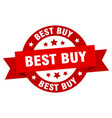 best buy ribbon best buy round red sign best buy vector image vector image